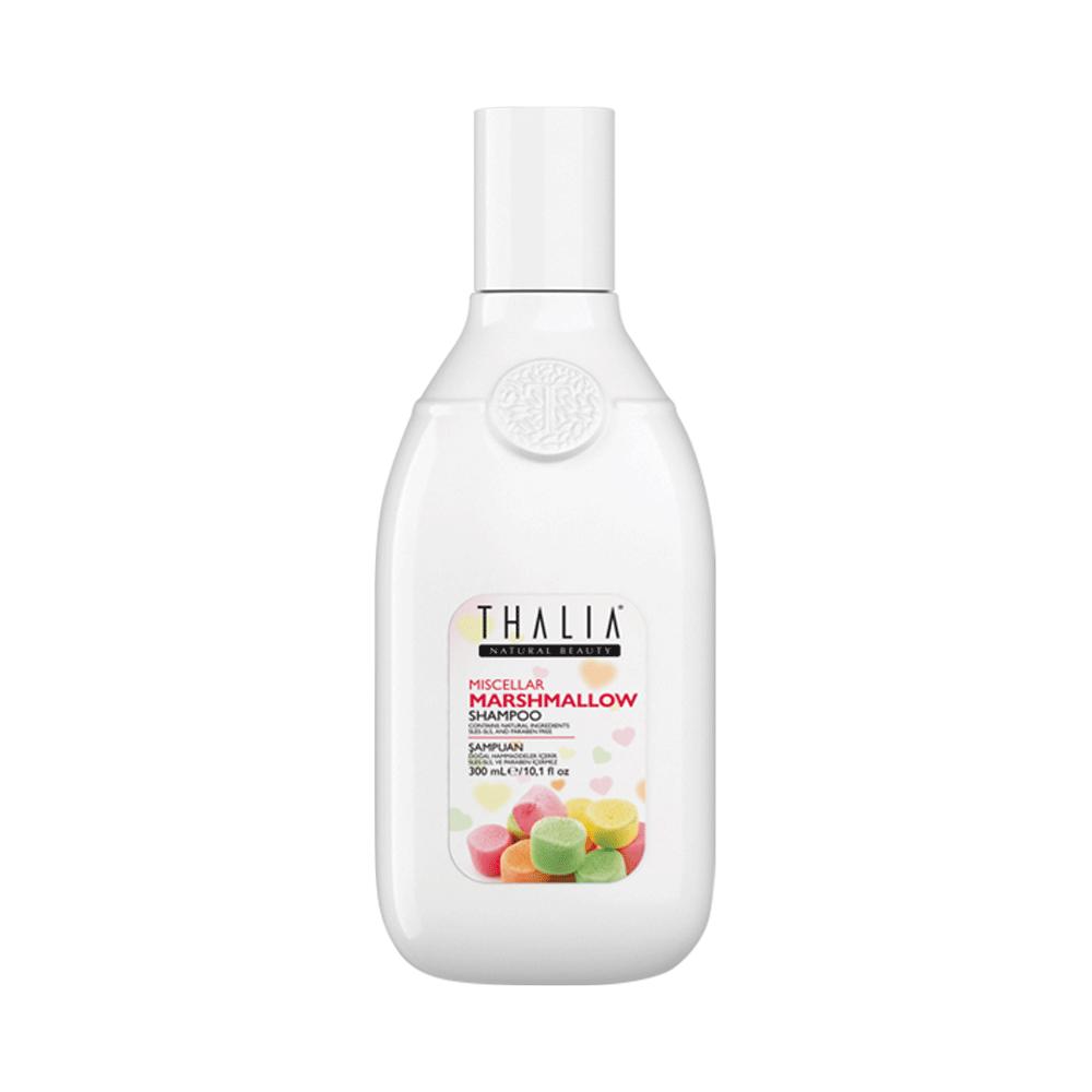 Безсульфатный мицеллярный шампунь для волос с маршмеллоу THALIA, 300 мл