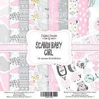 Набор бумаги для скрапбукинга Фабрика декора Scandi Baby Girl, 30х30см, фото 1