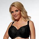 Бюстгальтер большого размера мягкий черный Kris Line (Крис Лайн) Betty Польша, фото 6