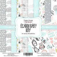 Набор бумаги для скрапбукинга Фабрика декора Scandi Baby Boy, 30х30см, фото 1