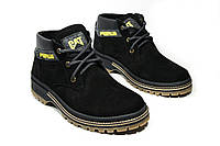 Зимние ботинки (на меху) мужские CAT 13044 (реплика)