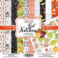 Набор бумаги для скрапбукинга Фабрика декора Soul Kitchen, 30х30см, фото 1