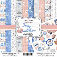 Набор бумаги для скрапбукинга Фабрика декора Huge Winter, 30х30см, фото 1