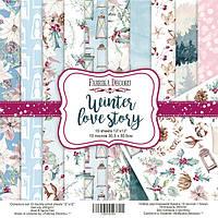 Набор бумаги для скрапбукинга Фабрика декора Winter Love Story, 30х30см, фото 1