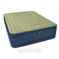 Односпальная надувная кровать Intex Plush Bed 67906 с электронасосом