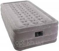 Надувная кровать Intex Ultra Plush 67952 в светло-сером цвете