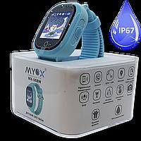 Детские водонепроницаемые GPS часы MYOX МХ-06BW синие (камера)