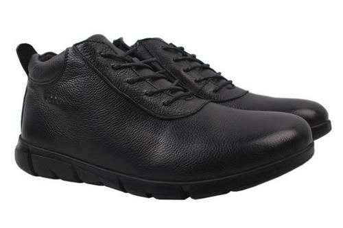 Ботинки Ecco натуральная кожа, цвет черный