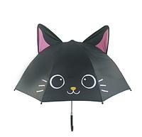 """Детский зонтик 3D ушки """"Черный котенок"""""""