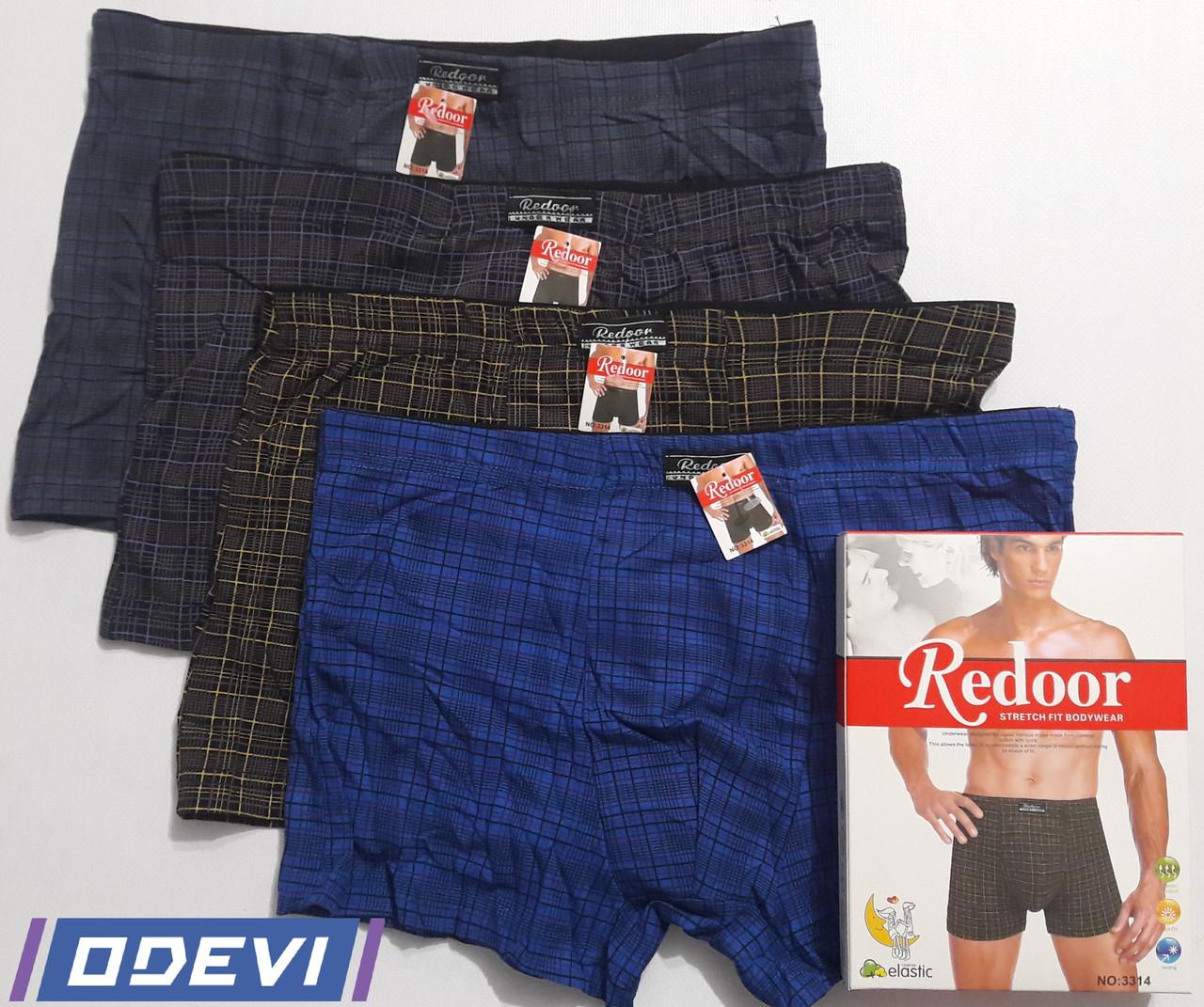 Трусы Redoor мужские хлопок в клетку Цена за упаковку