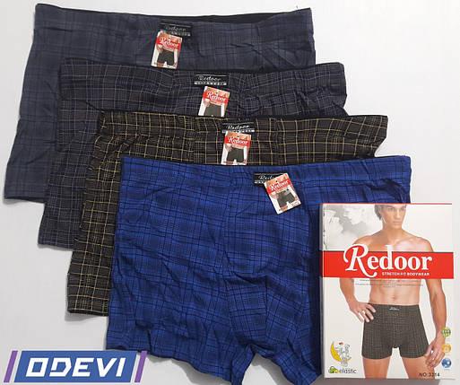 Трусы Redoor мужские хлопок в клетку Цена за упаковку, фото 2