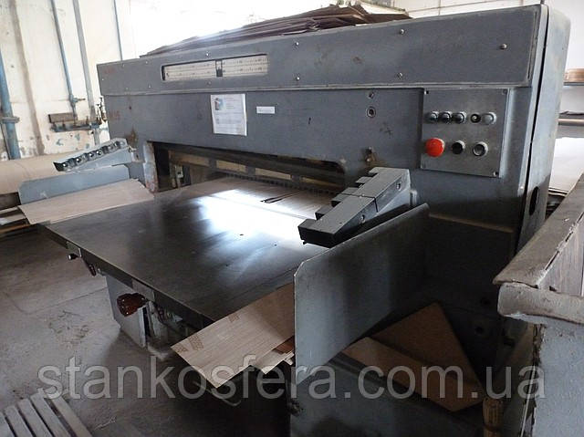 Машина бумагорезательная б/у БР-125 (гильотина для шпона)