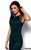 Женское блестящее платье с гипюром(Алираkr), фото 2