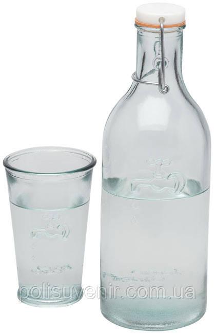 Пляшка зі склянкою для води