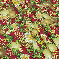 Ткань для декора на новый год фон красный