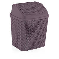 Ведро мусорное Plasty Love 6.2 л 430х400х490 мм фиолетовое (О005)