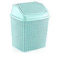 Ведро мусорное Plasty Love 6.2 л 430х400х490 мм мятное (О005)