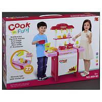 Детская игровая Кухня 889-90, звук, свет, 27 деталей