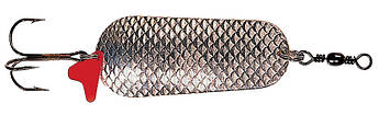 Блесна-колебалка DAM Effzett Scales 30гр 6,5см (серебро/серебро с красной полоской)