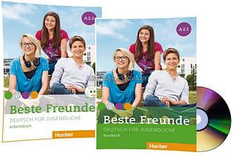 Немецкий язык / Beste Freunde / Kursbuch+Arbeitsbuch+CD. Учебник+Тетрадь (комплект с диском), A2.1 / Hueber