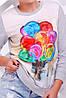 """Женский спортивный светло-серый свитшот на резинке с принтом Воздушные шары """"Cotton"""" , фото 2"""