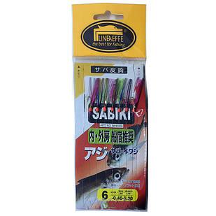 Оснастка (самодур) Lineaeffe Sabiki Flasher 7 крючков №6  2,05м