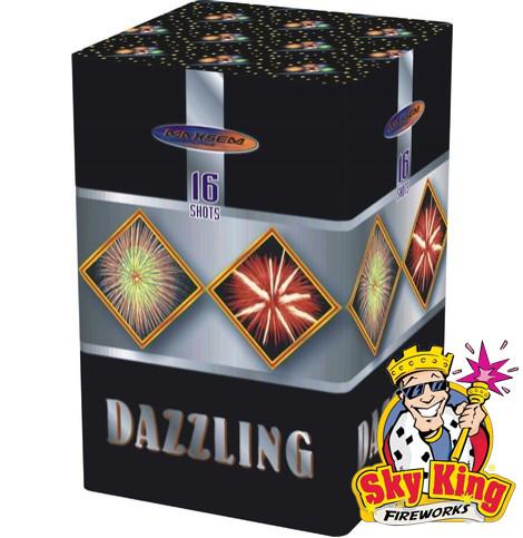 Салют DAZZLING 25мм 16 выстр. Пиротехника и фейерверки