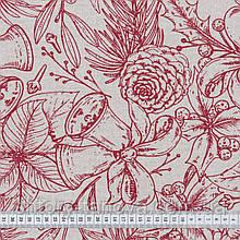 Тканьс новогодней тематикой для штор, скатертей, салфеток, подушек Шторные ткани на метраж с пошивом