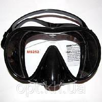 Маска для дайвинга и подводной охоты Exquis MS252 (чёрный силикон)