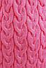 """Молодежный вязаный кардиган-накидка выше колен в косичку """"LOLO"""" светло-розовый, фото 3"""