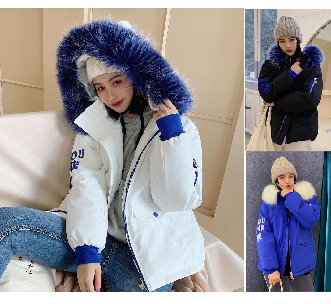 Короткая стильная молодёжная зимняя куртка асимметрия с манжетами и капюшоном