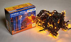 Гирлянда уличная DELUX ICICLE 108LED 2x1m 27 flash жел/черная IP44 EN