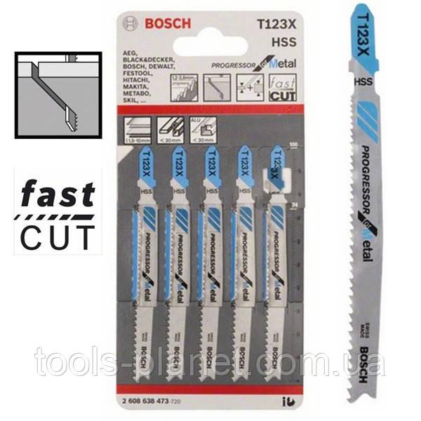 Пилка для лобзика Bosch T 123 X, HSS 5 шт/упак.