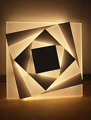 Настенный светодиодный накладной светильник 12W LED 2166 Pink