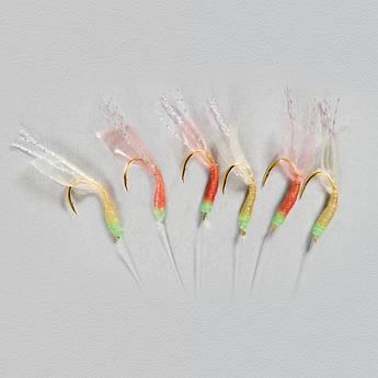 Оснастка (самодур) Lineaeffe Hypercatch Sabiki  Mixed Colours 6 крючков №7  1,90м