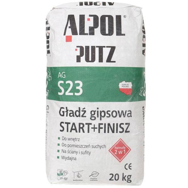Шпаклевка гипсовая 2 в 1 Alpol Putz AG S23 20 кг