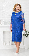Платье Ninele-2183 белорусский трикотаж, василек, 56
