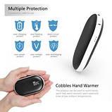 Зарядное устройство Power Bank Pebble hands warmer NS-518, 5000 mAh с подогревом для рук, фото 5