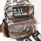 Рюкзак сумка на одно плечо 10 л армейский коричневый, фото 5