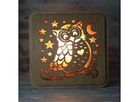 Соляная лампа Сова на ветке Код:109-10818813