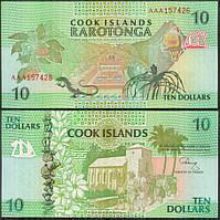 О-ви Кука / Cook Isl. 10 Dollars (1992) Pick 8 UNC