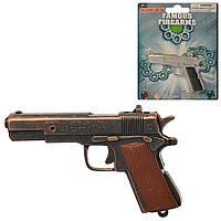 Пистолет 2086BC   на пистонах,8,5см, 2цвета, на листе, 15-12,5-1,5см