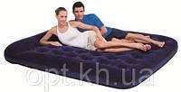 Надувной матрас Bestway 67227 + встроенный ножной насос (203х185х22 см)