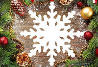 """Новогодний декор, резная игрушка """"Снежинка"""" из пенопласта, 40*2 см"""