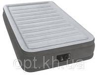 Надувная велюр-кровать Intex 67766 со встроенным электронасосом
