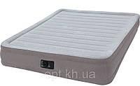 Надувная велюр-кровать Intex 67768 со встроенным электрическим насосом