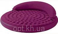 Надувная велюр-кровать Intex 68881 Лонжа со съемным изголовьем