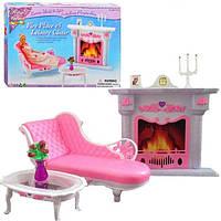 Детская игрушечная мебель Глория Gloria2618 для кукол Барби Каминная,Обустройте кукольный домик