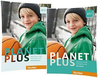 Немецкий язык / Planet Plus / Kursbuch+Arbeitsbuch. Учебник+Тетрадь (комплект), A1.1 / Hueber