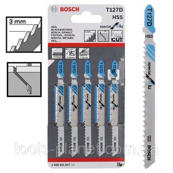 Пилка для лобзика Bosch T 127 D, HSS 5 шт/упак.